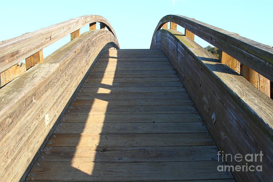 Arched Pedestrian Bridge At Martinez Regional Shoreline Park In Martinez California . 7d10526 Photograph by Wingsdomain Art and Photography