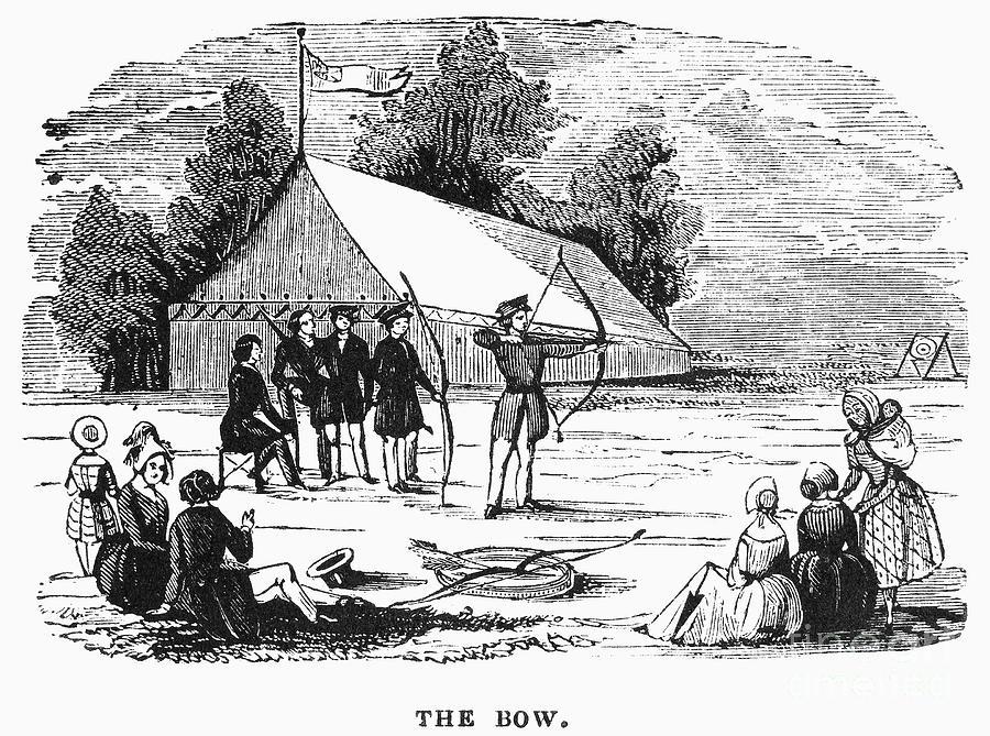 1830 Photograph - Archery, C1830 by Granger