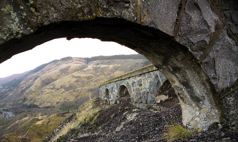 Arches Photograph - Arches And Mountains by Steve McKinzie