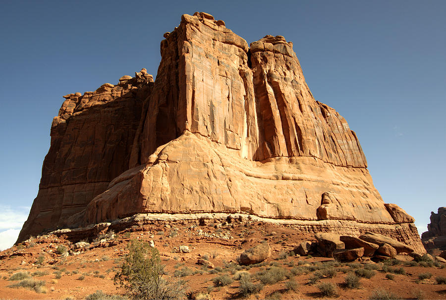 Arches National Park Photograph - Arches N P The Courthouse Towers View by Paul Cannon