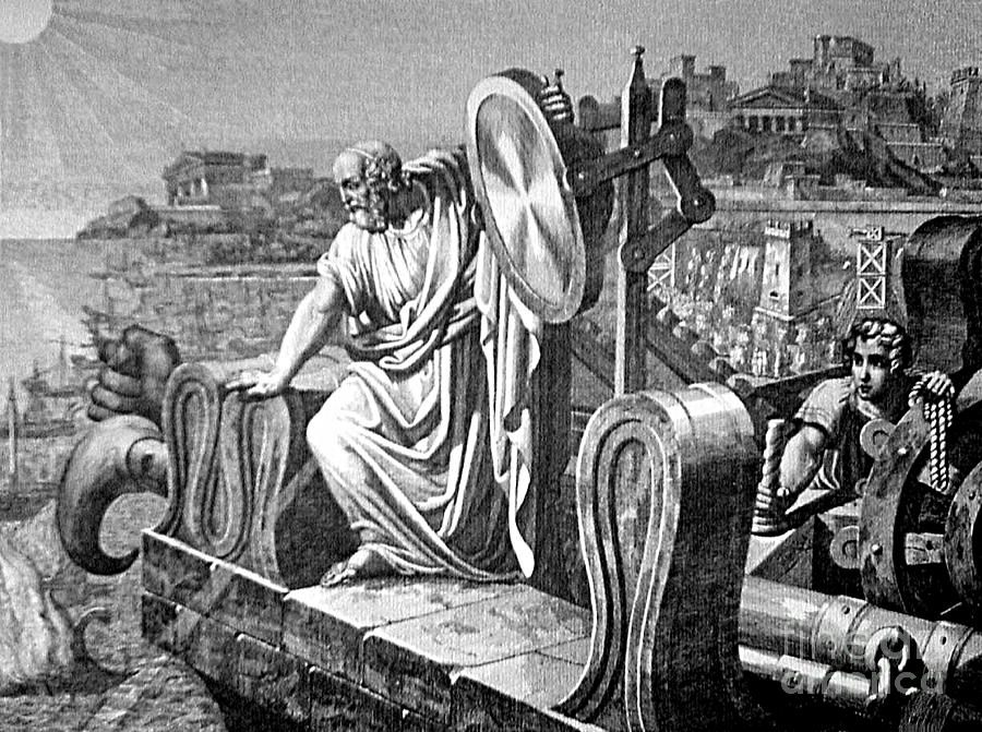 Science Photograph - Archimedes Heat Ray, Siege Of Syracuse by Science Source