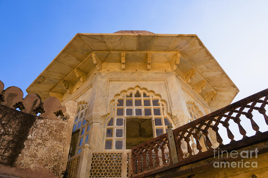 Amber Fort Photograph - Architectural Details Of The Amber Fort by Inti St. Clair