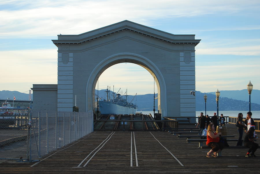 San Francisco Photograph - Archway Pier 39 San Francisco by Richard Adams