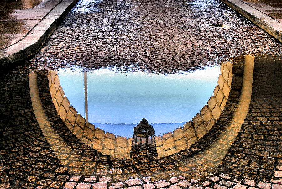 Arch Photograph - Archway Reflections by Steven Ainsworth