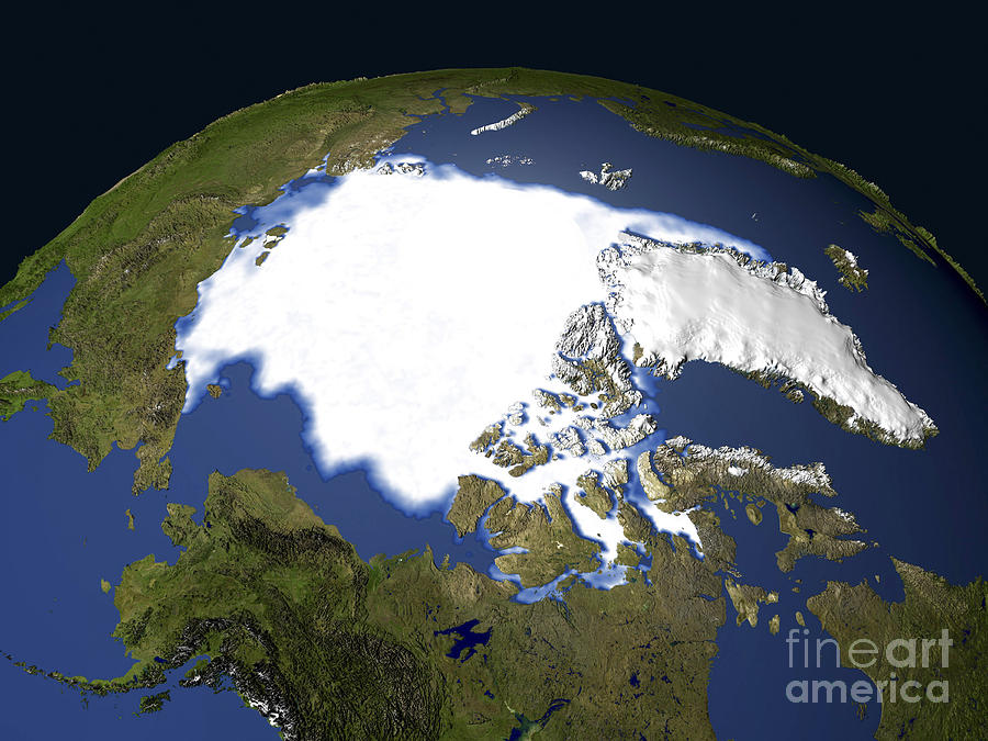 1900s Photograph - Arctic Sea Ice, 1979 by NASA / Science Source