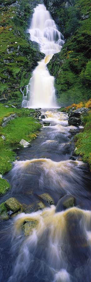 Beauty In Nature Photograph - Ardara, Co Donegal, Ireland Waterfall by The Irish Image Collection