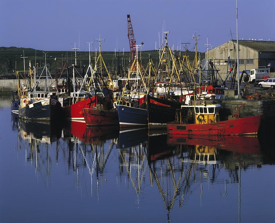 Moored Photograph - Ardglass, Co Down, Ireland Fishing by The Irish Image Collection