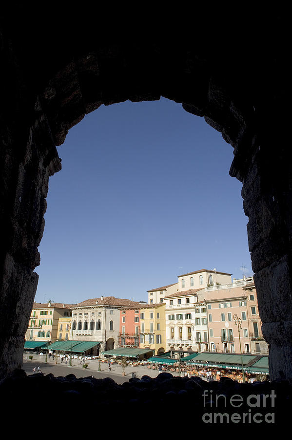 Images Photograph - Arena Arch Verona by Alex Rowbotham