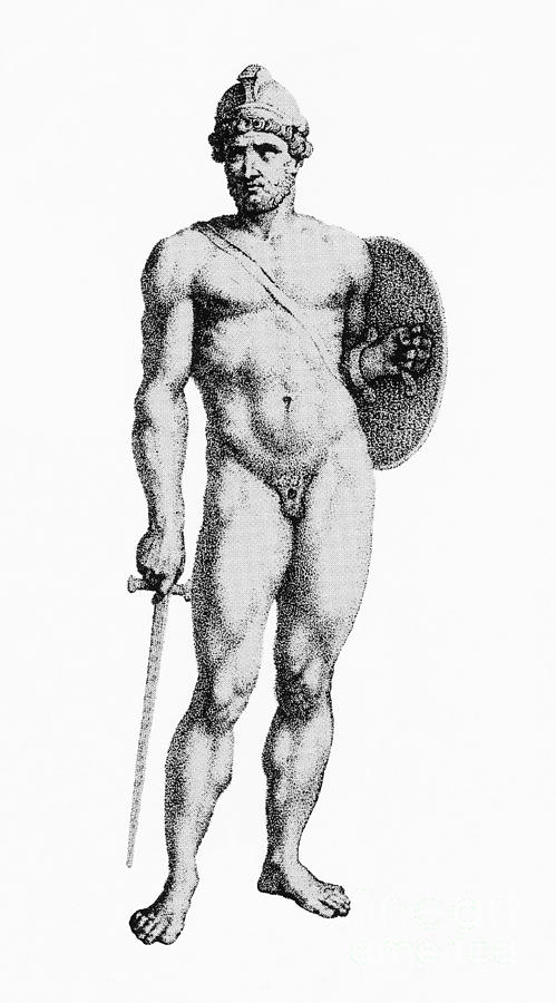 History Photograph - Ares, Greek God Of War by Photo Researchers
