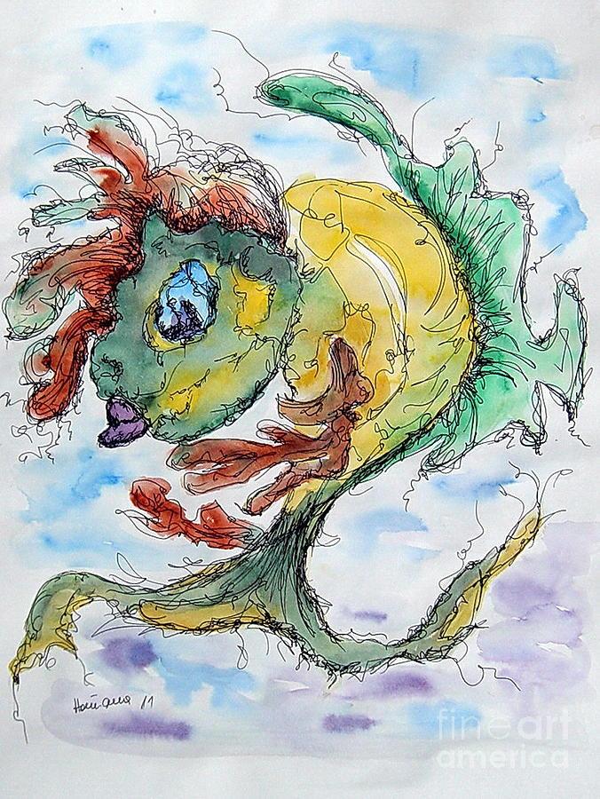 Watercolor Painting - Ares by Natasa Dobrosavljev