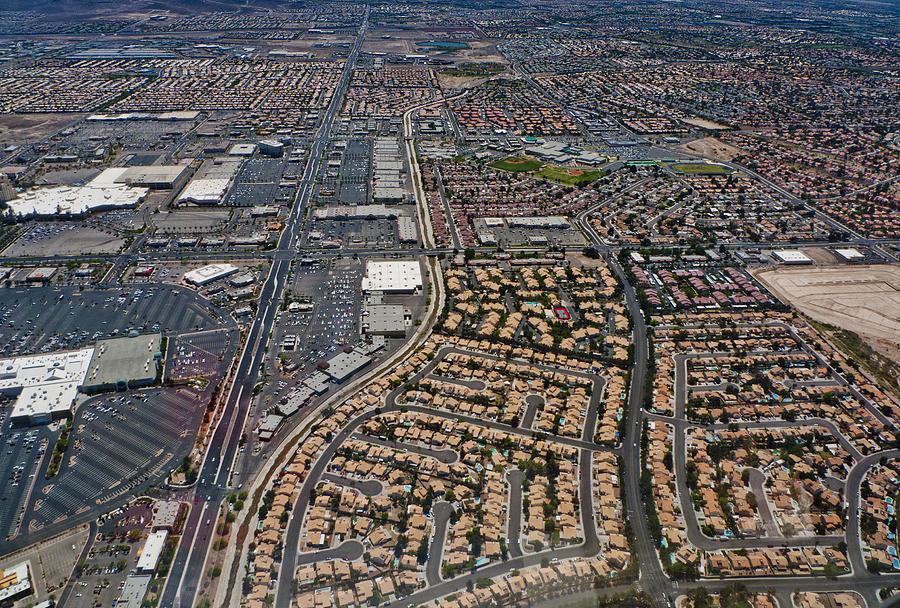 Streets Of Las Vegas Digital Art - Arial View Of Las Vegas by Susan Stone