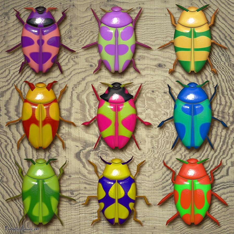 Aristotle Digital Art - Aristotle Coleoptera IIi. by Tautvydas Davainis