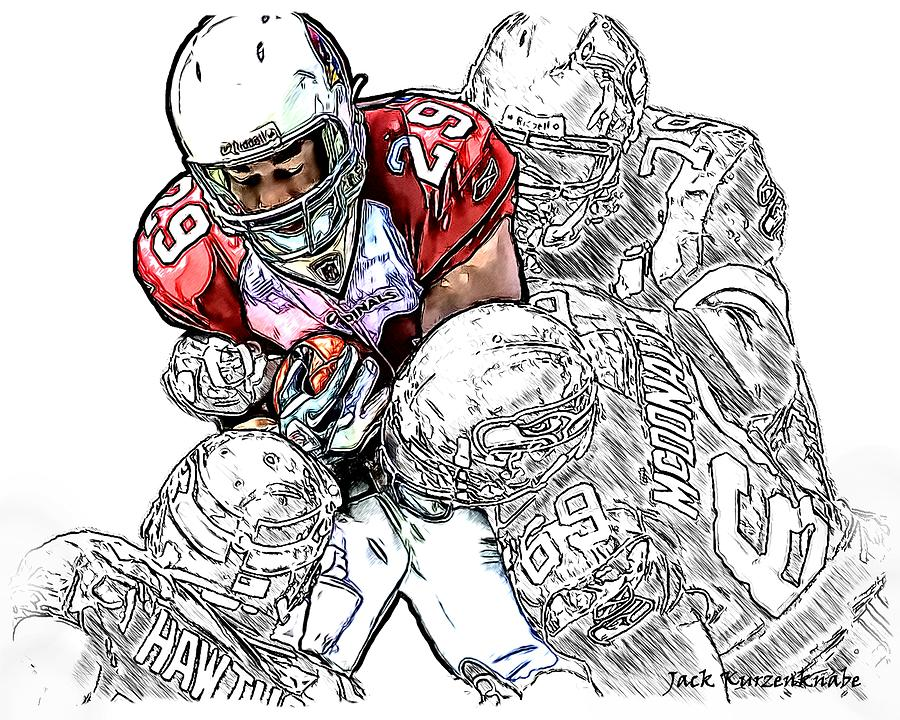 Arizona Cardinals Digital Art - Arizona Cardinals Chester Taylor Seattle Seahawks David Hawthorne Clinton Mcdonald And Red Bryant by Jack K