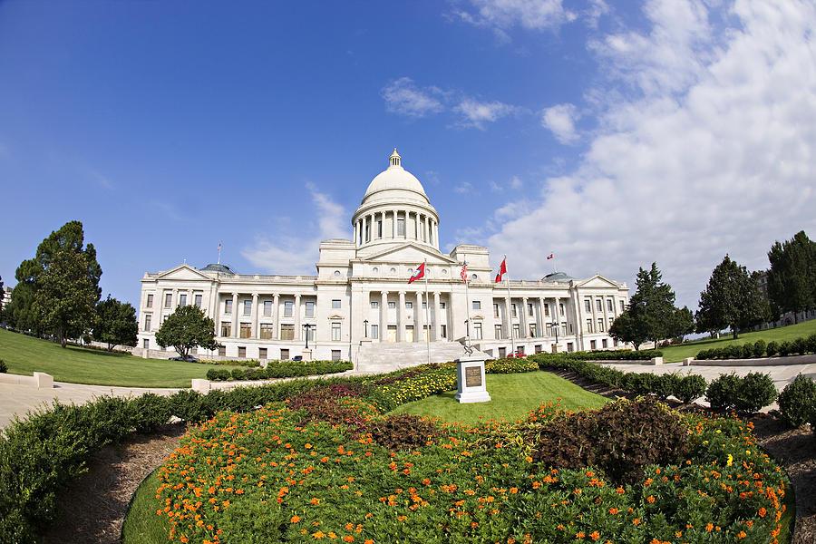 Horizontal Photograph - Arkansas State Capitol Building by Wesley Hitt