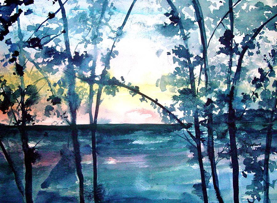 Arkansas Painting - Arkansas Sunset by Robin Miller-Bookhout