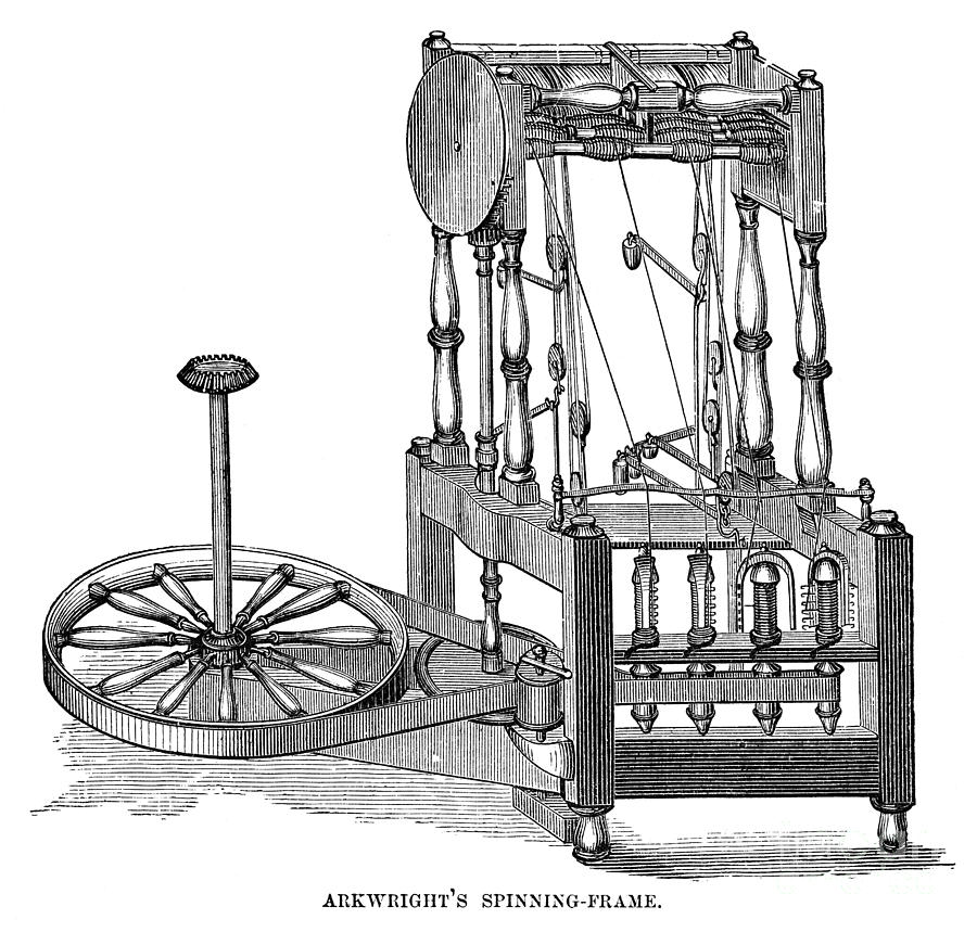 Arkwright: Spinning Frame Photograph by Granger