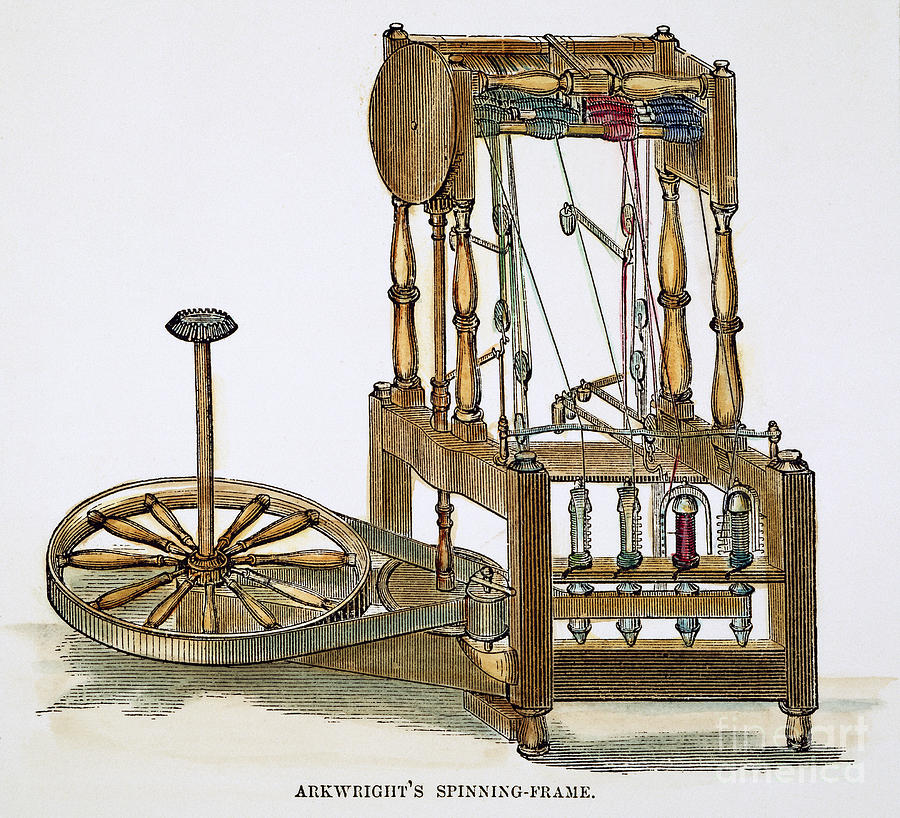 Arkwrights Spinning Frame Photograph By Granger