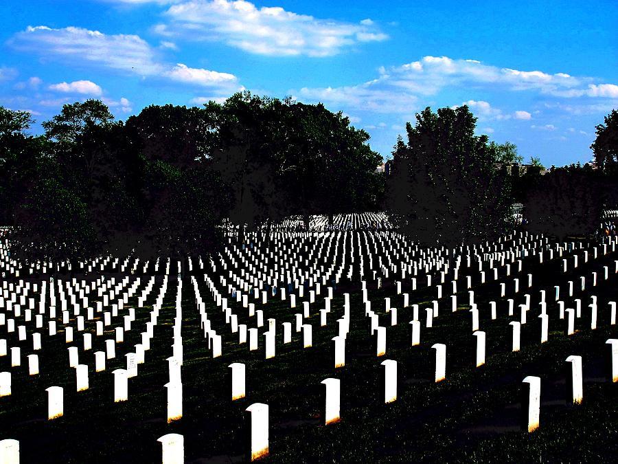 Arlington National Cemetery Photograph - Arlington National Cemetery by Valia Bradshaw
