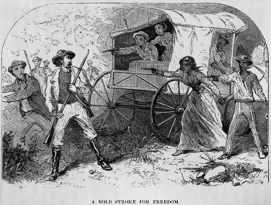 History Photograph - Armed Fugitive Slave Family Defending by Everett