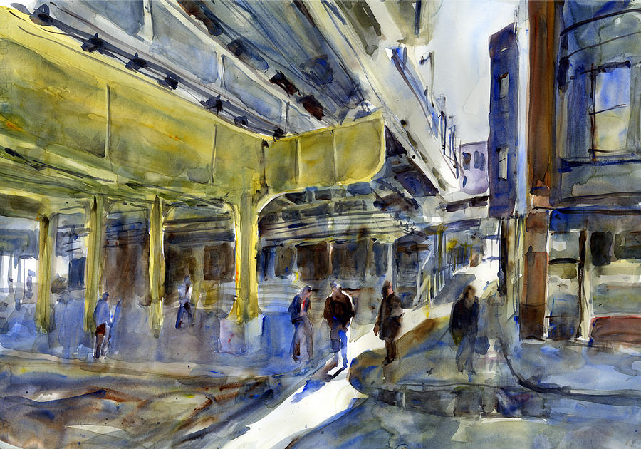 Armitage L Station Painting by Gordon France