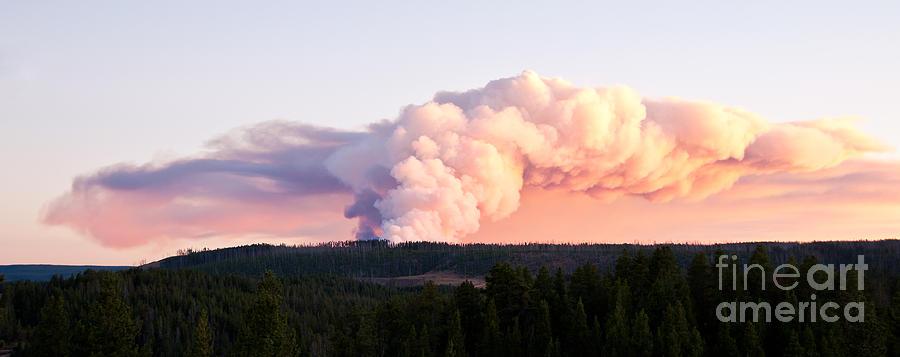 Smoke Photograph - Arnica Fire by Bob and Nancy Kendrick