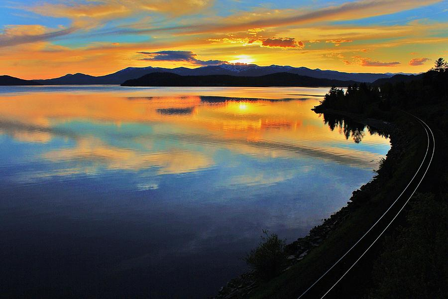 Lake Photograph - Around The Bend by Benjamin Yeager