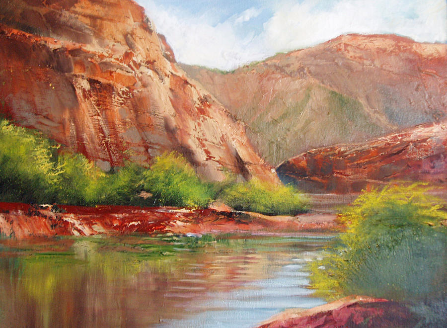 Landscape Painting - Around The Bend by Robert Carver