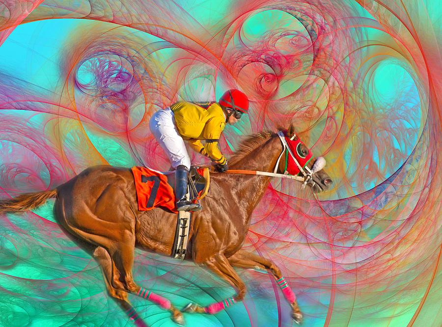 Horse Digital Art - Around Us by Betsy Knapp