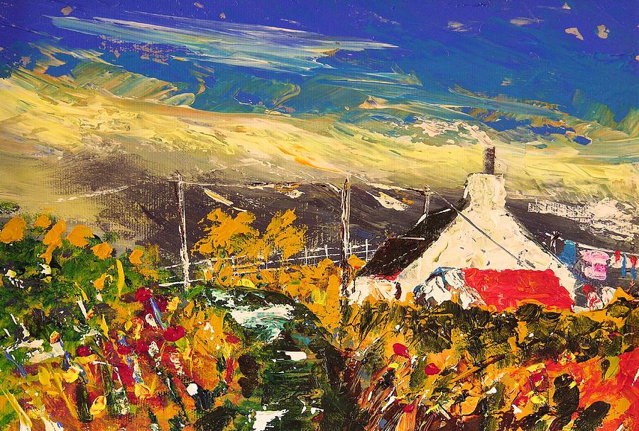 Arran Painting - Arran Croft by Peter Tarrant