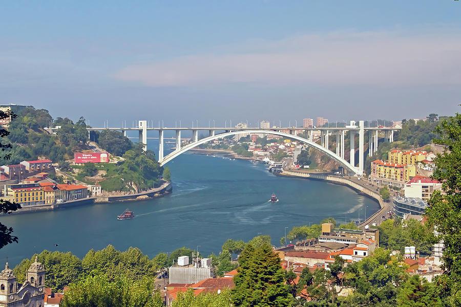 Horizontal Photograph - Arrábida Bridge Over River by Cmanuel Photography - Portugal