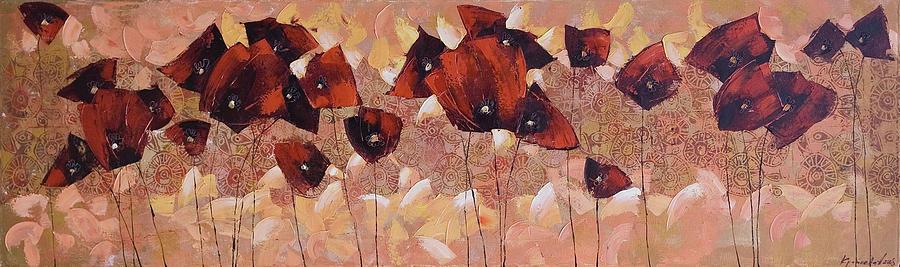 Flowers Painting - Art Deco by Anastasija Kraineva