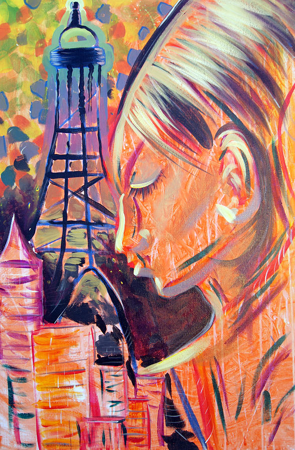 Girl Painting - Art In The City by Ottoniel Lima Lorinda Fore and Matt Callahan