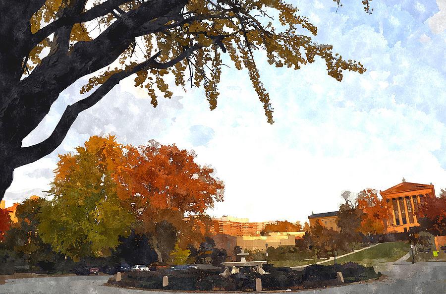 Art Museum Of Philadelphia Digital Art - Art In The Fall by Andrew Dinh