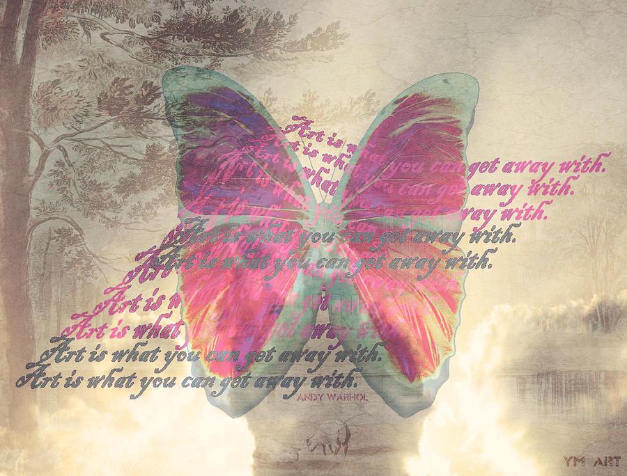 Butterfly Digital Art - Art Is ..... by Yvon van der Wijk
