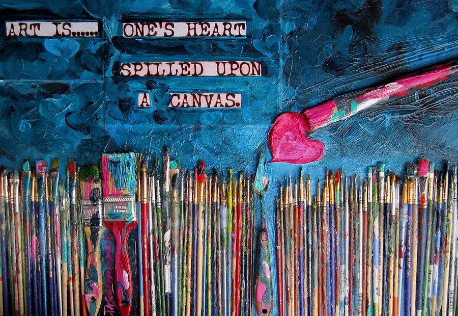 Paint Painting - Art Is Blue Version by Patti Schermerhorn