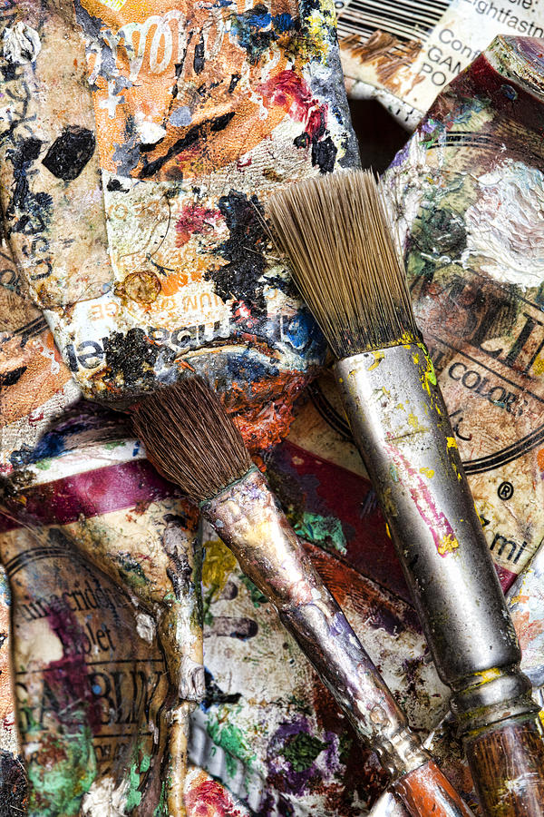 Artist Photograph - Art Is Messy 1 by Carol Leigh