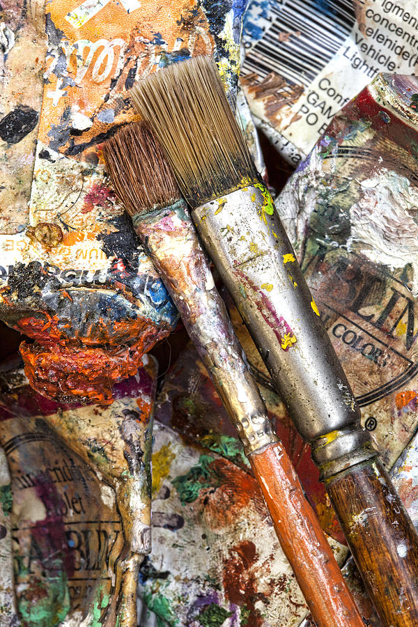 Artist Photograph - Art Is Messy 2 by Carol Leigh