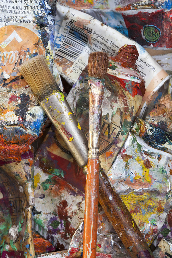 Art Photograph - Art Is Messy 3 by Carol Leigh