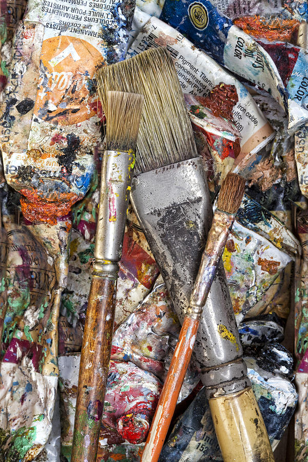 Art Photograph - Art Is Messy 4 by Carol Leigh