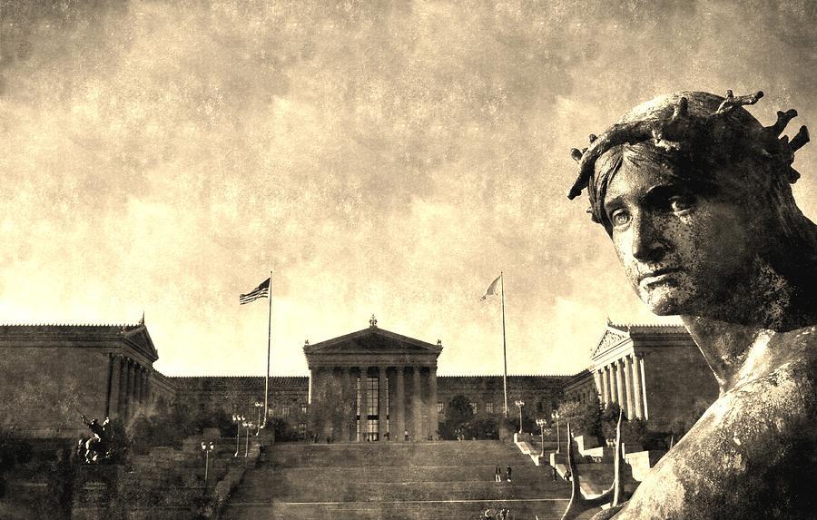 Art Museum Of Philadelphia Digital Art - Art Museum Of Philadelphia by Andrew Dinh