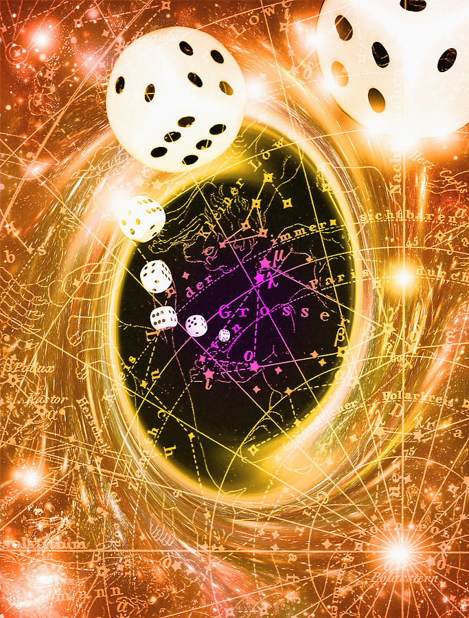 Black Hole Photograph - Art Of Dice, A Black Hole And Chance by Mehau Kulyk