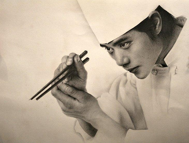 Pencil Drawing Drawing - Art Of Food by Sucheol Kong