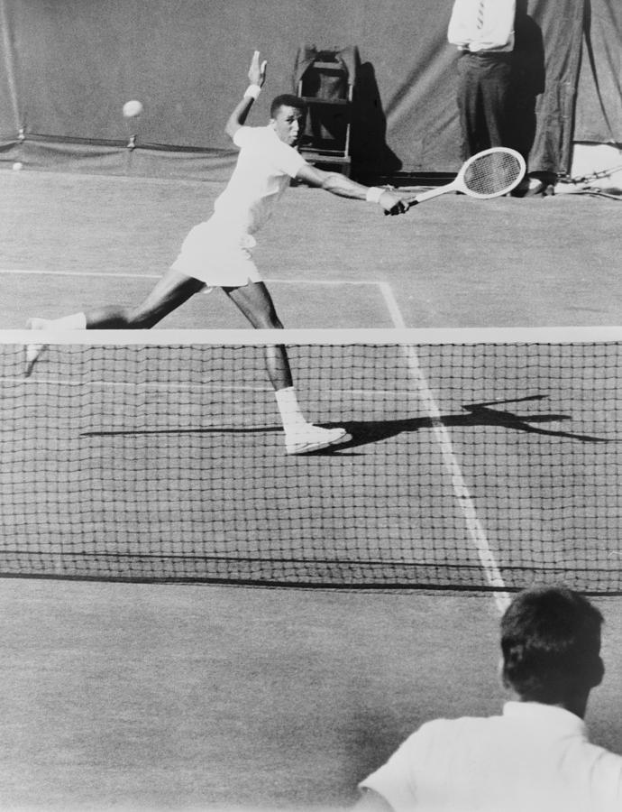 History Photograph - Arthur Ashe, 1943-1993, Playing Tennis by Everett