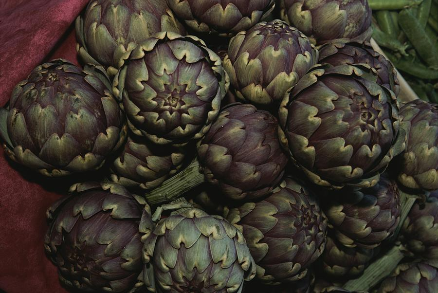 Europe Photograph - Artichokes At A Market In Provence by Nicole Duplaix