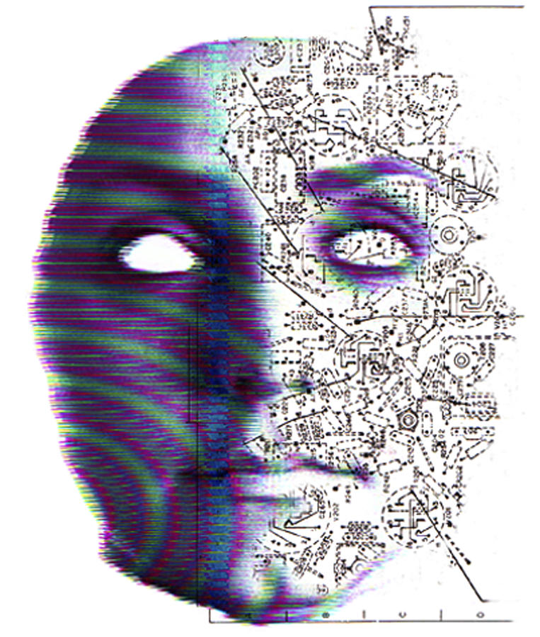 Head Photograph - Artificial Intelligence by Neal Grundy