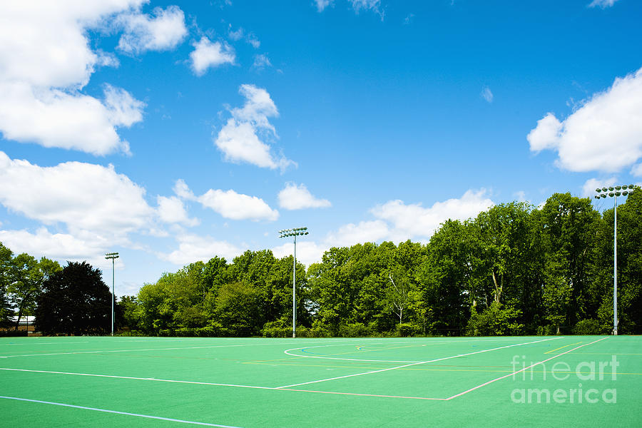 Artificial Grass Photograph - Artificial Turf Athletic Field by Sam Bloomberg-rissman