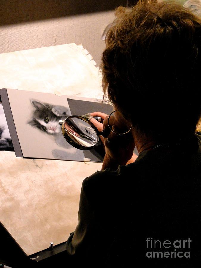 Al Bourassa Photograph - Artist At Work by Al Bourassa