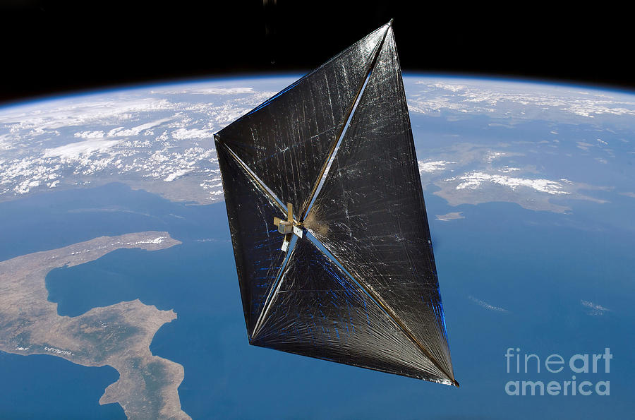 Weather Digital Art - Artist Concept Of Nanosail-d In Space by Stocktrek Images