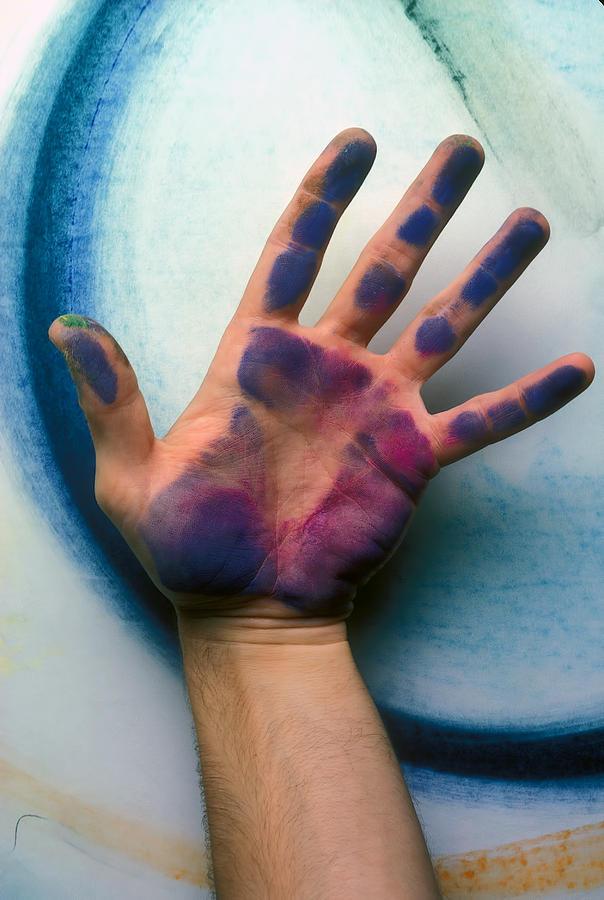 Hands Photograph - Artist Hand by Garry Gay