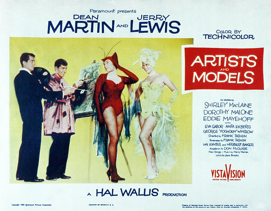 1955 Movies Photograph - Artists And Models, Dean Martin, Jerry by Everett